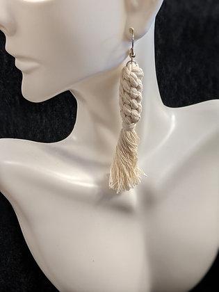 Knotted Tassel Macrame Earrings