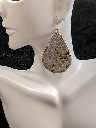 Calf Hair Italian Leather Earrings