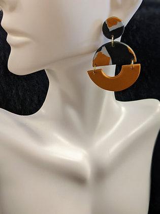 Black/Gold mix earrings