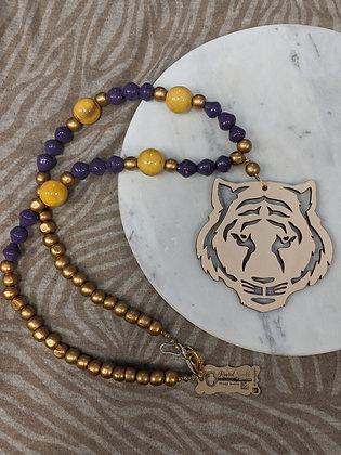 LSU Tiger Head Necklace
