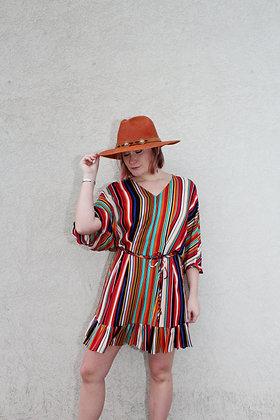 (L)Stripe Batwing Dress