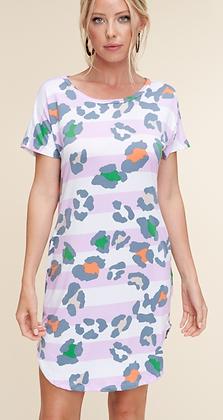 Lavender Leopard Dress