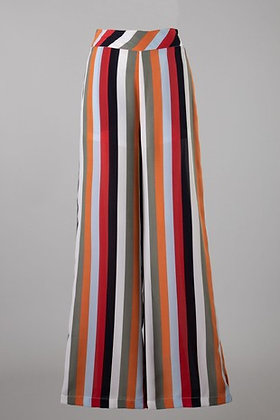 (S)Orange Multi Stripe Woven Pant