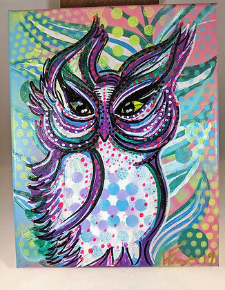 10x8 Owl Painting