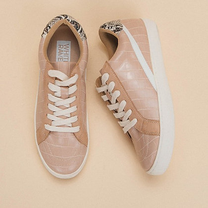 Rose Gold Crocodile Sneakers