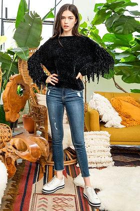 Soft Fringe Sweater