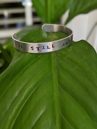 Be Still and Know cuff