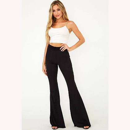 Faux Suede Stretch Flares