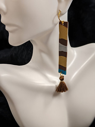 Brown Mix Long Earrings
