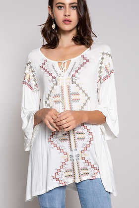 Off White  Ethnic Top