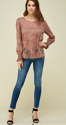 Dark Mauve Lace Blouse