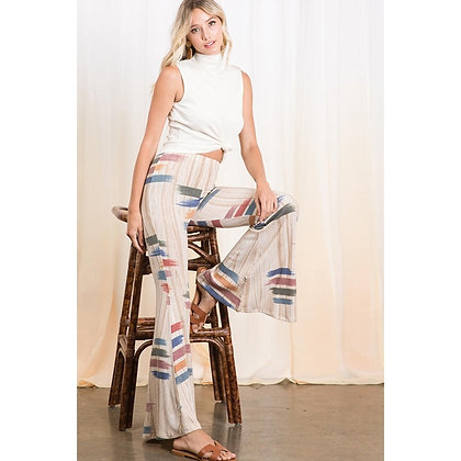 Taupe Multi Color Pants