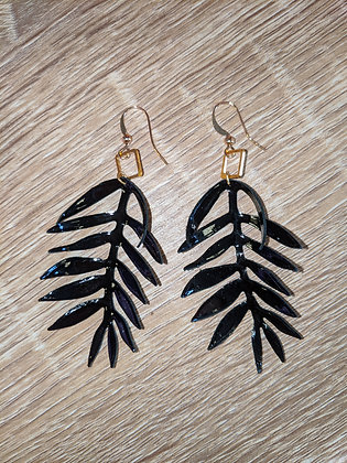 Feather Patent Earrings