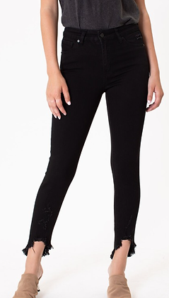 (27) Black High Rise Ankle Denim