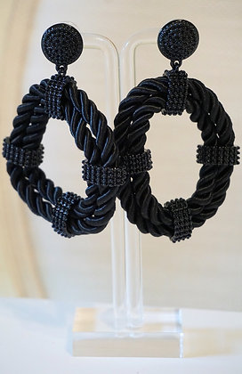 Rope Oval Statement Earrings