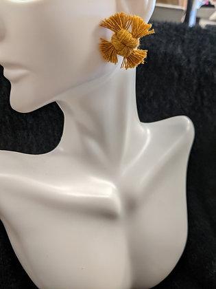 Mustard Knot Earrings