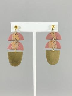 3tier drop earrings