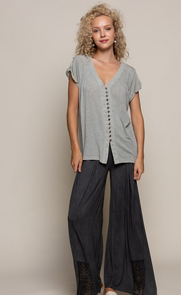 (L)Everyday Grey Knit Top