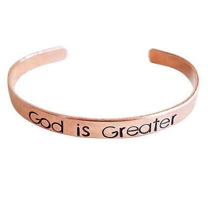 God Is Greater Cuff