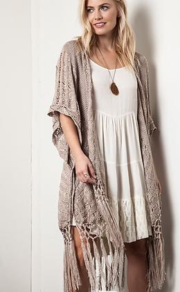 Knit Fringe Kimono