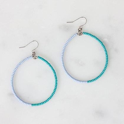 Light Blue and Turquoise Duara Earrings