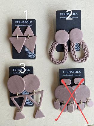 Mauve Trick Earrings