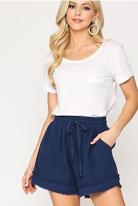 Navy Woven Shorts