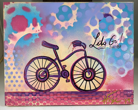 "8""x10"" Bicycle Painting"