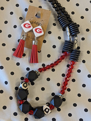 UGA Beaded Necklace