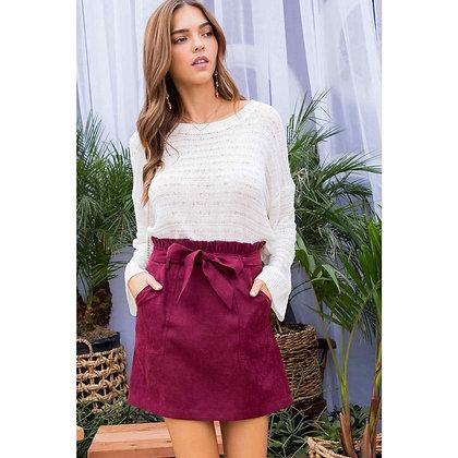 Ruffle Detail Waist Belt Skirt