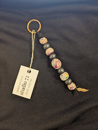 Feather Fly Keychain