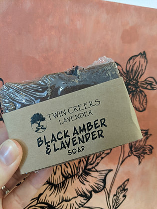 Black Amber & Lavender Soap