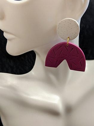 Marble/Purple Earrings