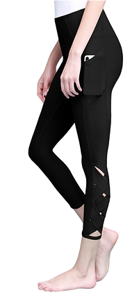 (S) Black Accent Leggings