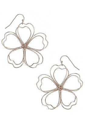 Gold Floral Earring