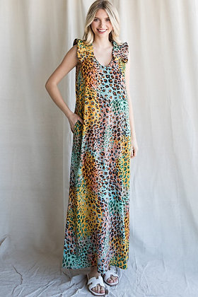 Multi Leo Maxi Dress