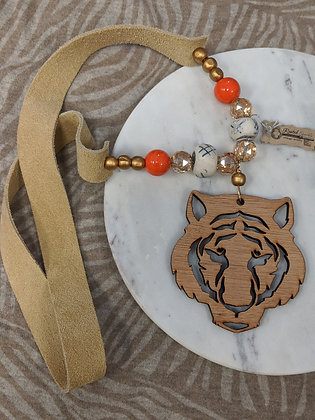 CU Tiger Head Necklace