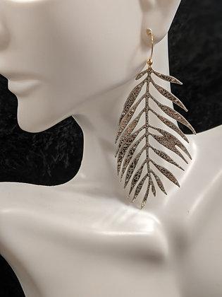 Thin Metallic Italian Leather Earrings