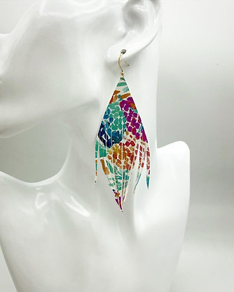 Lily Inspired Italian Leather Earrings