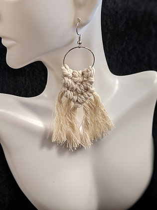 Full Braid Macrame Earrings