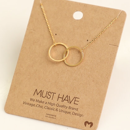 """""""Double Circle"""" necklace"""