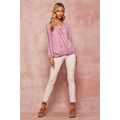 Lavender Jacquered Top
