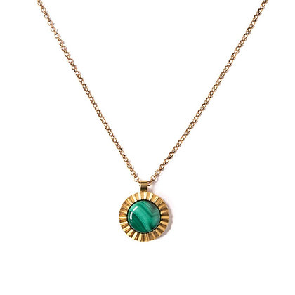 Malachite Starburst Pendant Necklace