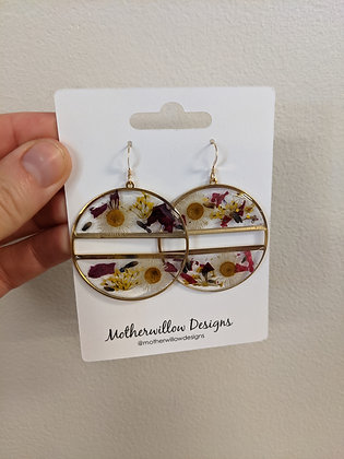 Double Layer Pressed Floral Earrings