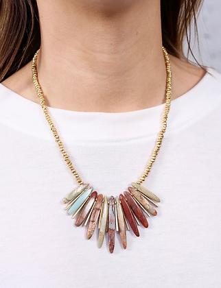 Una Mint Stone Necklace