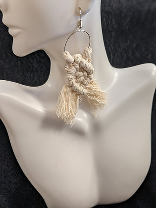 Crossbraid Macrame Earrings