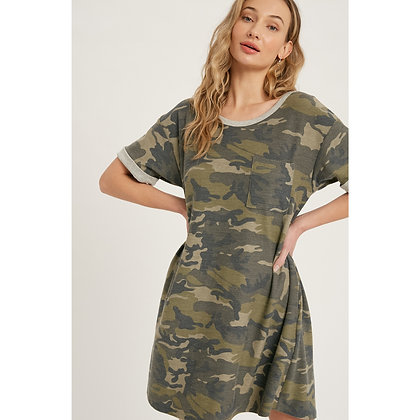 Camo French Terry Dress