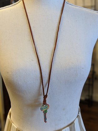 Faith Vintage Key Necklace