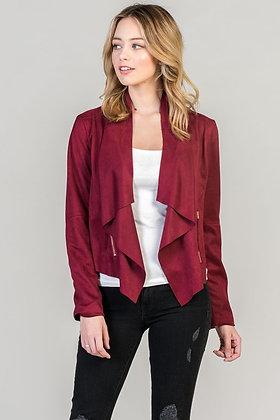 Burgundy Motto Jacket