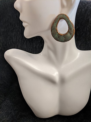 Green Nooks Pottery Earrings